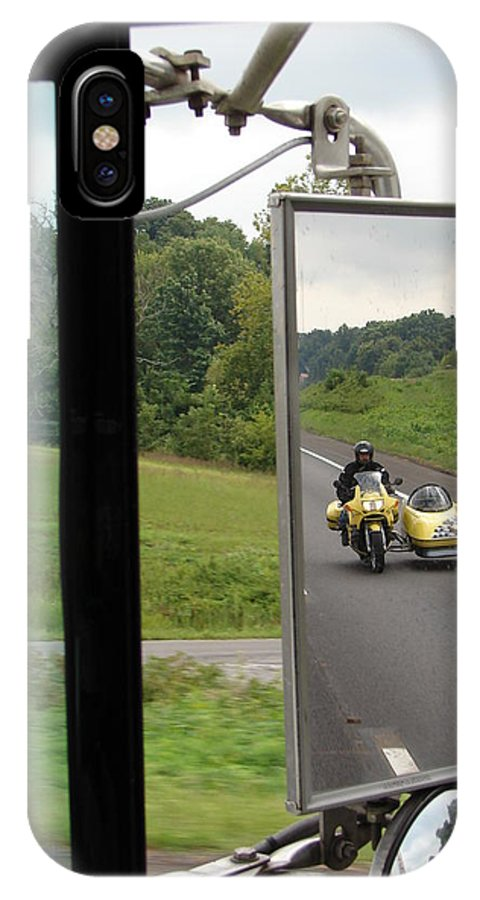 Truck IPhone X Case featuring the photograph Side Car Framed by J R  Seymour
