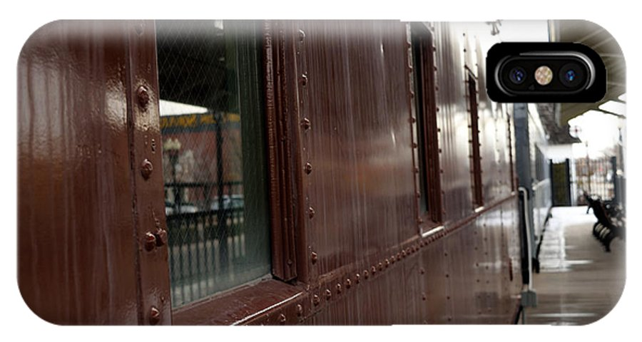 Antique IPhone X / XS Case featuring the photograph Side Of Train Window by Ashley Hougelman