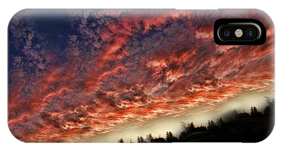 IPhone X Case featuring the photograph Sideways Sky by Blake Richards