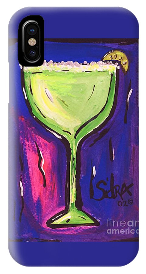 Margarita IPhone X Case featuring the painting Sidzart Pop Art Series 2002 Margarita Baby by Sidra Myers