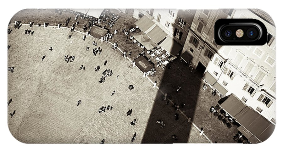 Siena IPhone X Case featuring the photograph Siena From Above by Dave Bowman
