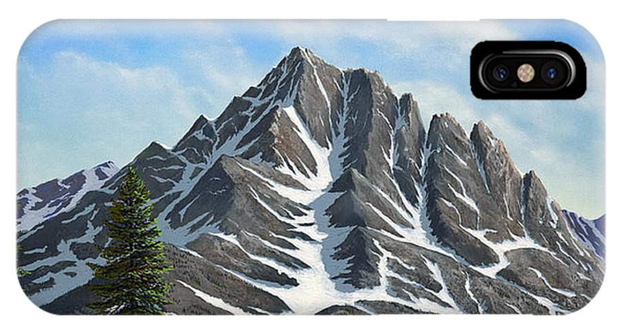 Mountains IPhone X Case featuring the painting Sierra Peaks by Frank Wilson