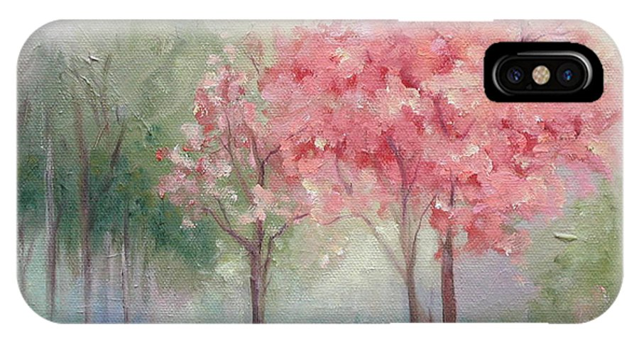 Spring IPhone X Case featuring the painting Sign Of Spring by Ginger Concepcion