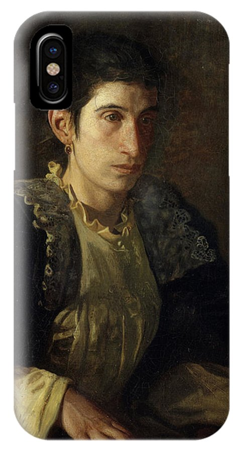 America IPhone X Case featuring the painting Signora Gomez D'arza by Thomas Eakins