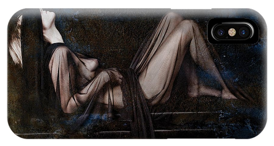 Female Nude IPhone X Case featuring the photograph Silence by Andrew Giovinazzo