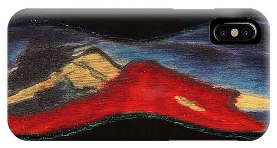 Pain IPhone X Case featuring the painting Silence. Pain. by Viktor Savchenko