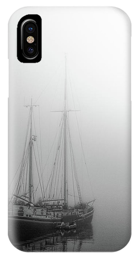 Silent Foggy Morning IPhone X Case featuring the photograph Silent Foggy Morning  by Mikael Jenei