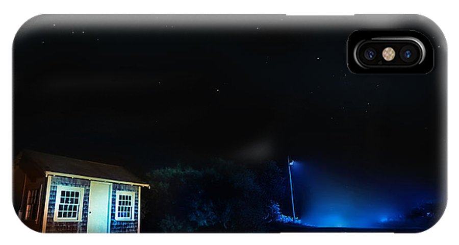 Night Photography IPhone X Case featuring the photograph Silent Night Hdr Photography by Dapixara Art
