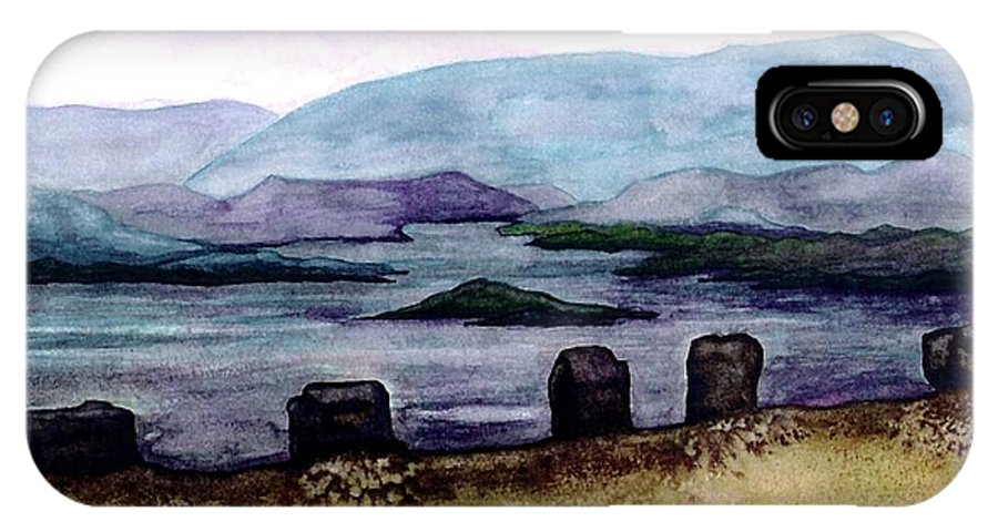 Original Painting IPhone Case featuring the painting Silent Sentinels by Patricia Griffin Brett
