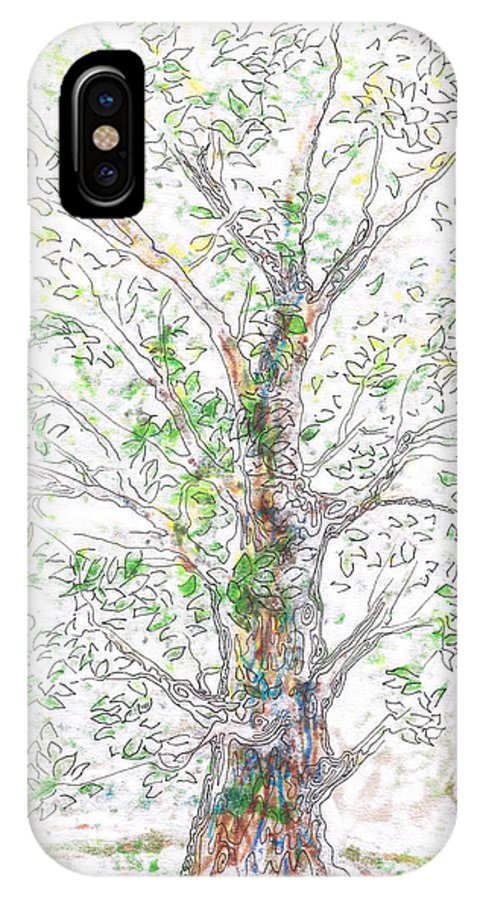 Tree IPhone X Case featuring the painting Silent Witness by Regina Valluzzi