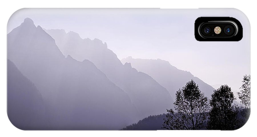 Mountain Silhouette IPhone X Case featuring the photograph Silhouette Austria Europe by Sabine Jacobs
