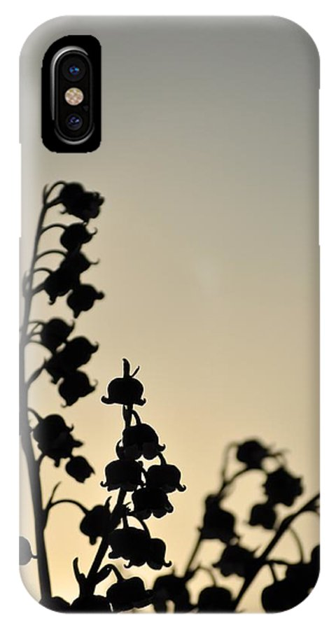 Flowers IPhone X Case featuring the photograph Silhouette Of Lilies Of The Valley 2 by Malgorzata Wryk-Igras