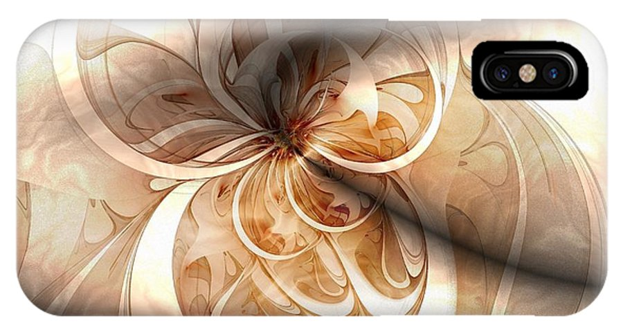 Digital Art IPhone Case featuring the digital art Silk by Amanda Moore