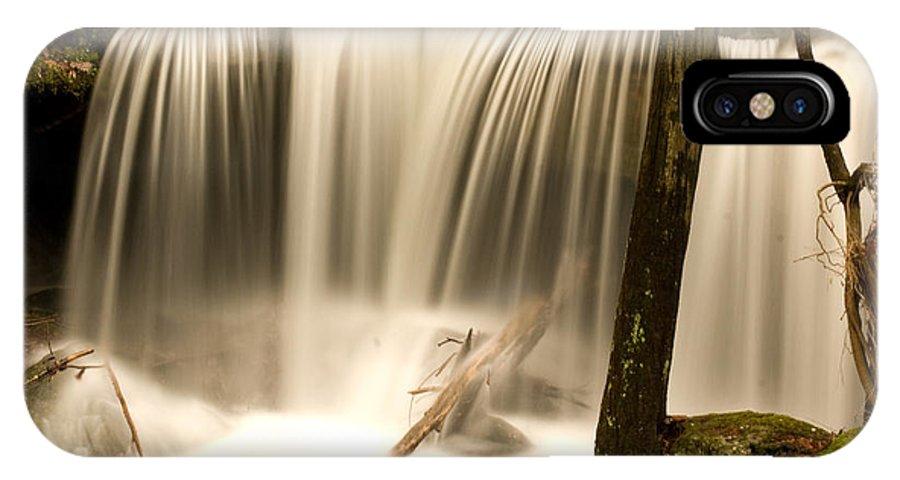 Silken IPhone X Case featuring the photograph Silken Waterfall by Douglas Barnett
