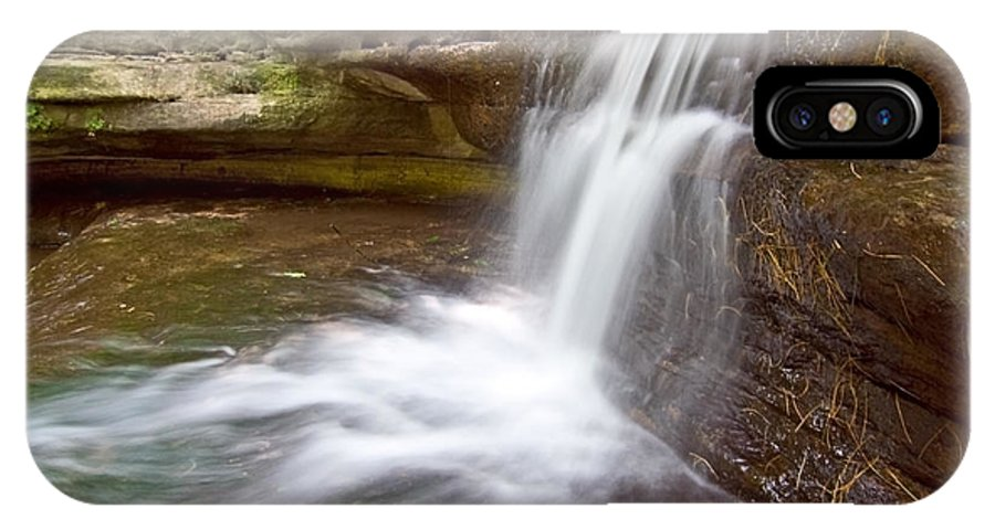 Waterfall IPhone X Case featuring the photograph Silky Waterfall by Sven Brogren