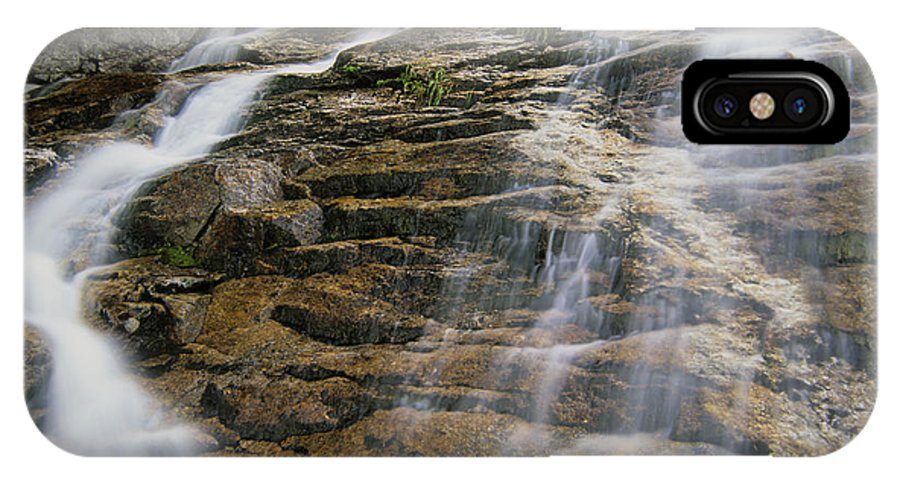 Tourism IPhone Case featuring the photograph Silver Cascades - Crawford Notch New Hampshire by Erin Paul Donovan