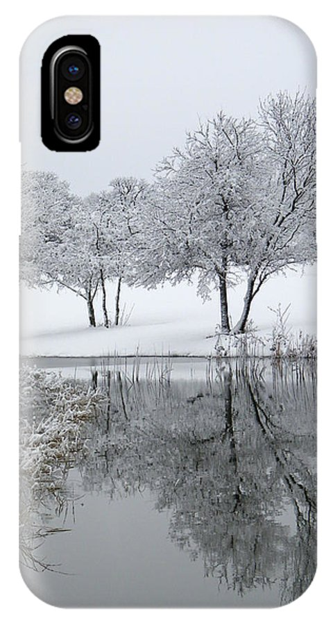 Pond IPhone X Case featuring the photograph Silver Morn by Gale Cochran-Smith