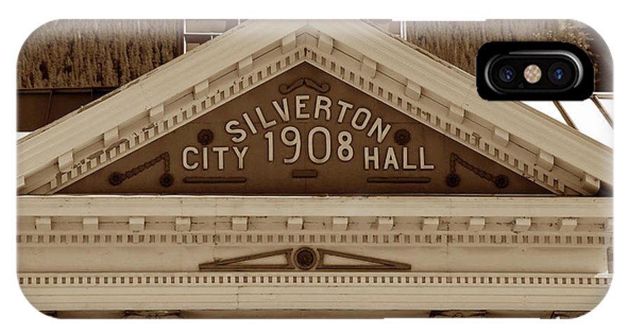 Fine Art Photography IPhone X Case featuring the photograph Silverton City Hall 1908 by David Lee Thompson