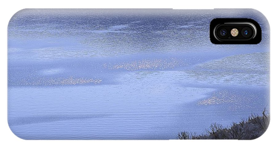 Silverwood IPhone X Case featuring the photograph Silverwood Lake In Blue Overcast by Viktor Savchenko