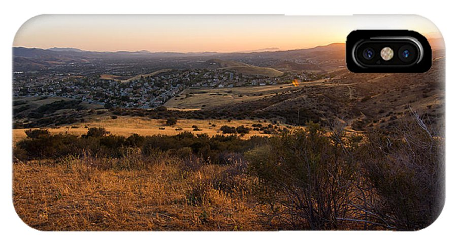 Simi IPhone X Case featuring the photograph Simi Valley by Justin Pernas