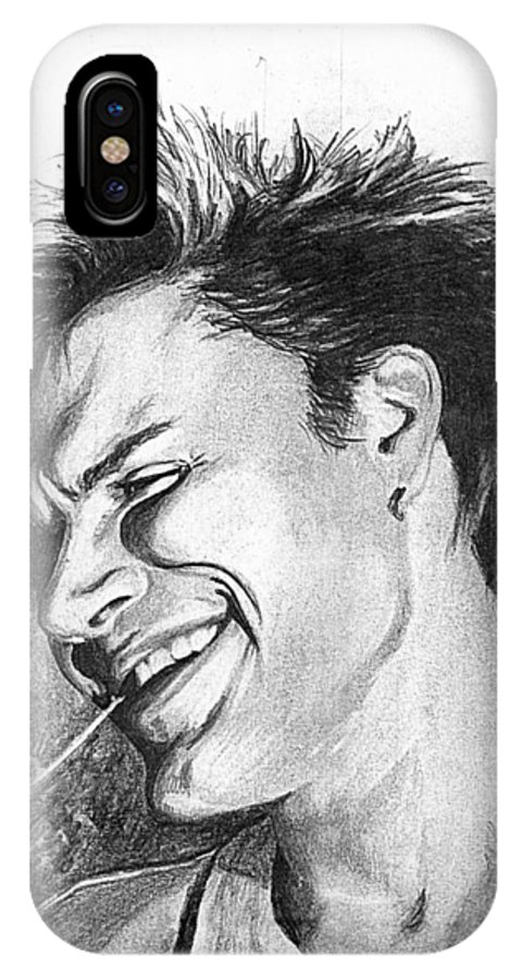 Simon Man Face Portrait Young Fresh Smile IPhone X Case featuring the drawing Simon by Veronica Jackson