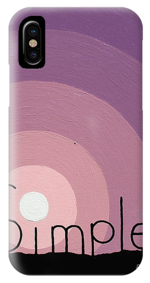 Inspirational IPhone Case featuring the painting Simple by Jaison Cianelli