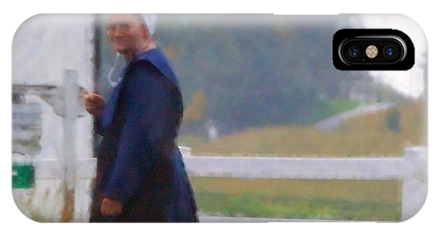 Amish IPhone X Case featuring the photograph Simple Living by Debbi Granruth