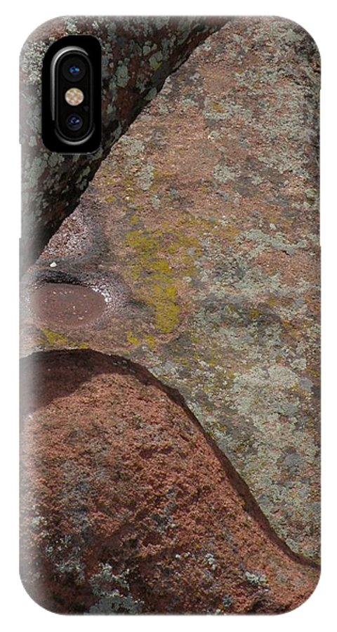 Red Rocks Lichen Rock Forms Colorado Simple Zen Design Art IPhone X Case featuring the photograph Simple Shapes by George Tuffy