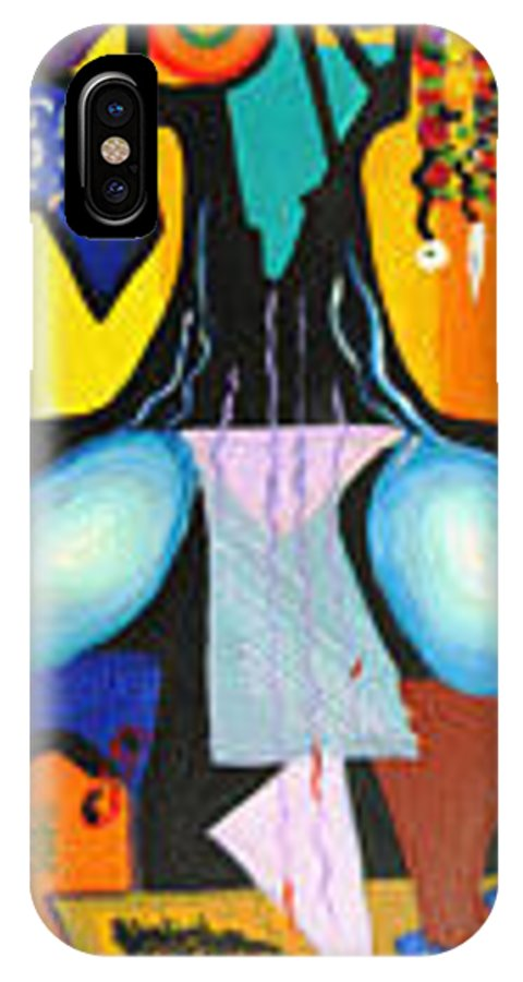 Abstract IPhone X / XS Case featuring the painting Simple Tree by Olga Alexeeva