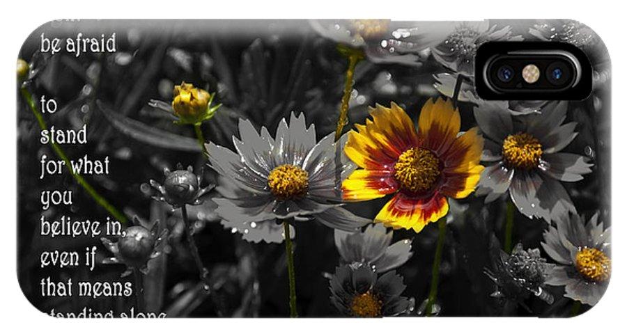 Garden IPhone X Case featuring the photograph Simplicity by Deborah Klubertanz