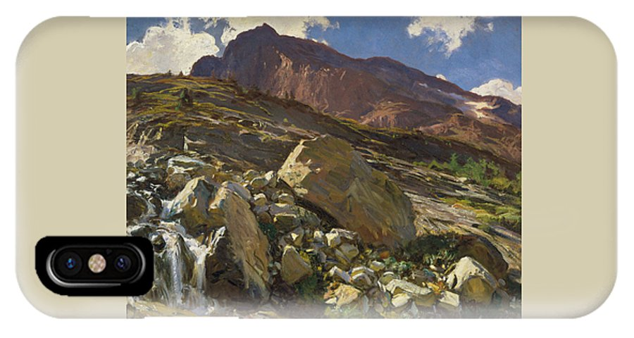Sargent IPhone X Case featuring the painting Simplon Pass by John Singer Sargent
