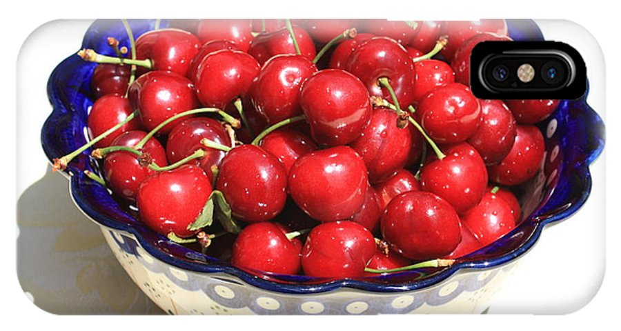 Cherries IPhone X Case featuring the photograph Simply A Bowl Of Cherries by Carol Groenen