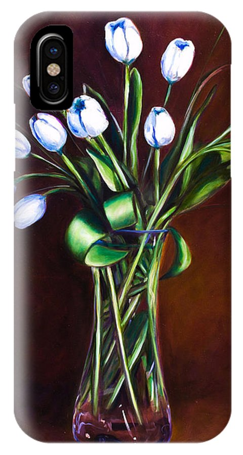 Shannon Grissom IPhone X / XS Case featuring the painting Simply Tulips by Shannon Grissom