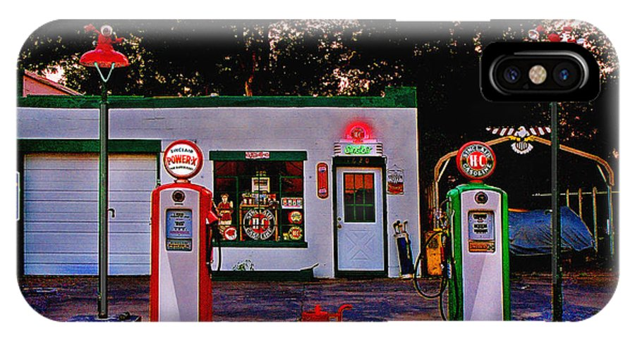 Gas Station IPhone Case featuring the photograph Sinclair by Steve Karol