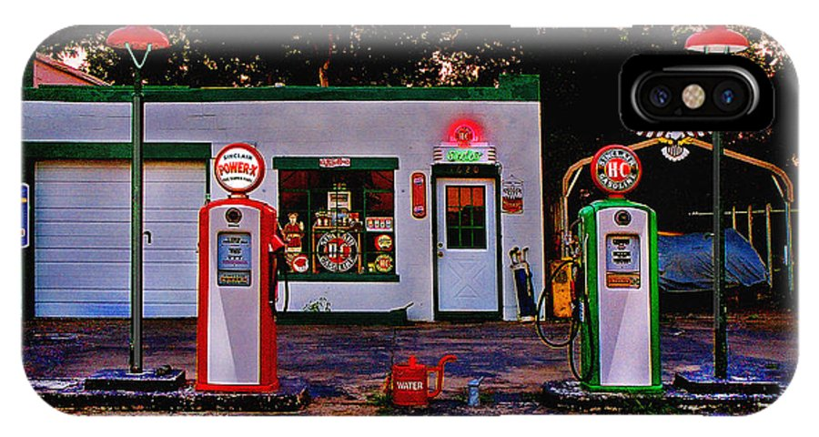 Gas Station IPhone X Case featuring the photograph Sinclair by Steve Karol