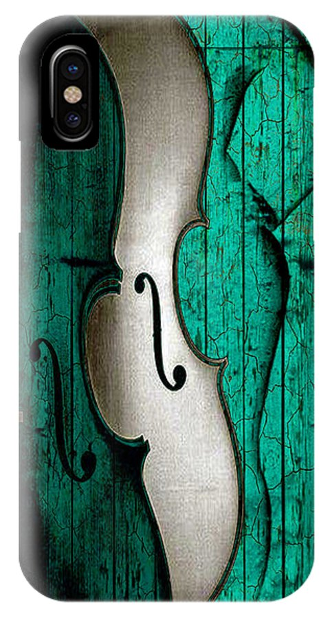 Art IPhone X Case featuring the digital art Sinful Violin by Greg Sharpe