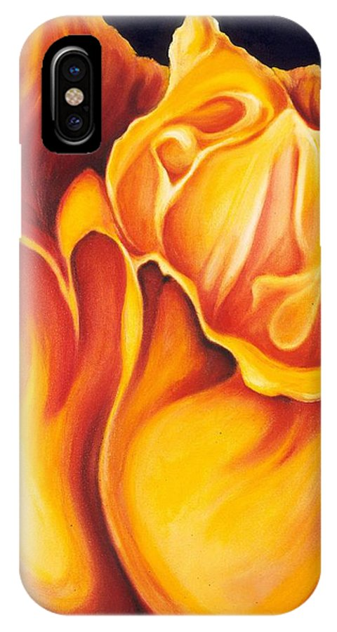 Surreal Tulip IPhone X Case featuring the painting Singing Tulip by Jordana Sands