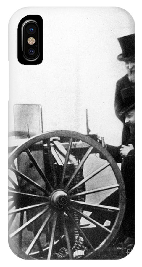1900 IPhone X Case featuring the photograph Sir Hiram Stevens Maxim by Granger
