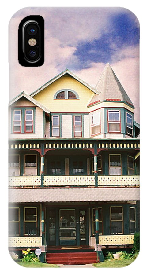 Landscape IPhone X Case featuring the photograph Sisters panel three of Triptych by Steve Karol
