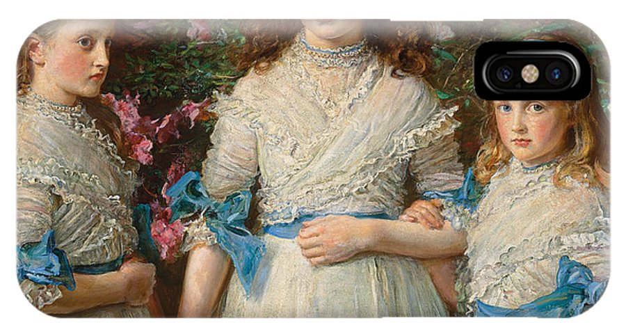Millais IPhone X Case featuring the painting Sisters by Sir John Everett Millais