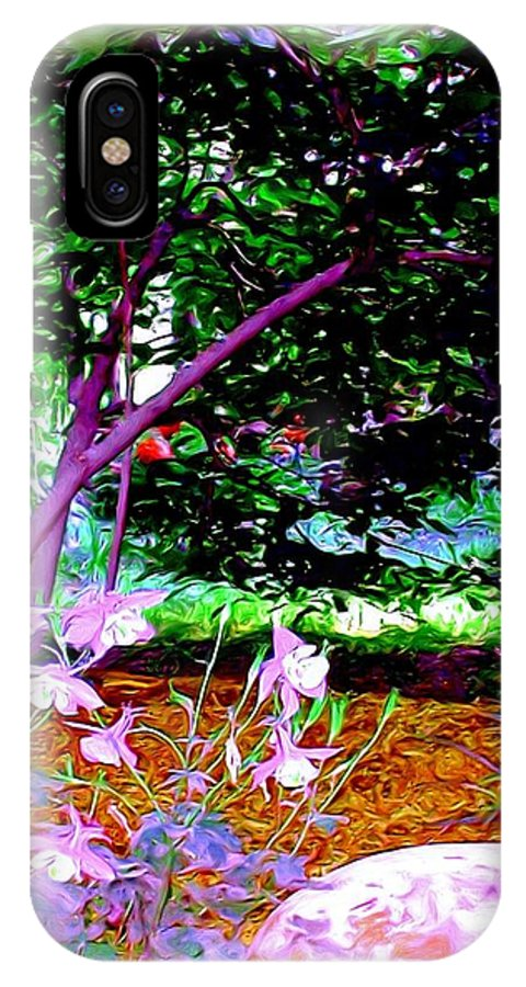 Fine Art IPhone X Case featuring the painting Sitting In The Shade by Patricia Griffin Brett
