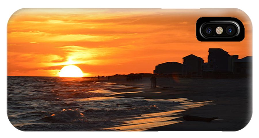 Ocean IPhone X Case featuring the photograph Sizzling Sunset by Sue Houston