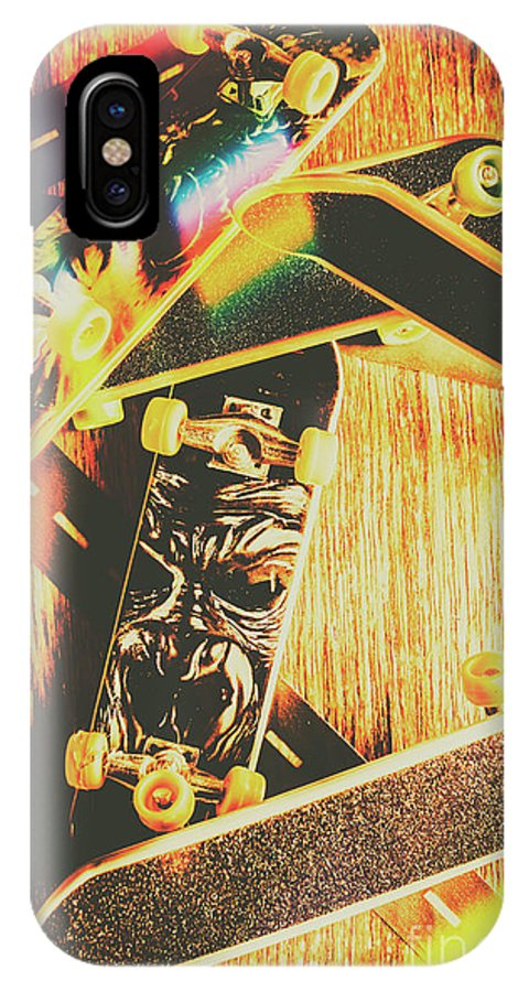 Skateboard IPhone X Case featuring the photograph Skateboarding Tricks And Flips by Jorgo Photography - Wall Art Gallery