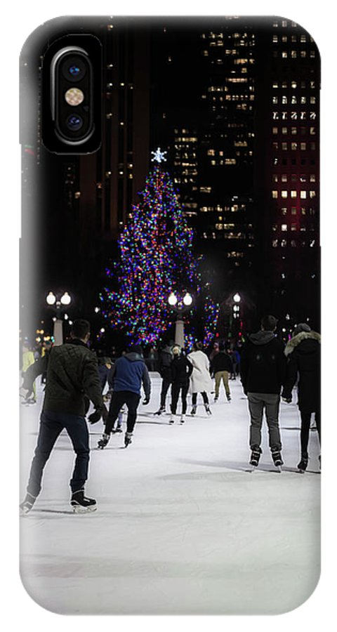 IPhone X Case featuring the photograph Skating By The Tree by Sue Conwell