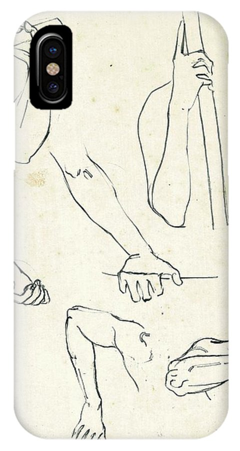 Makarand Joshi IPhone X / XS Case featuring the drawing Sketches Of Arms by Makarand Joshi