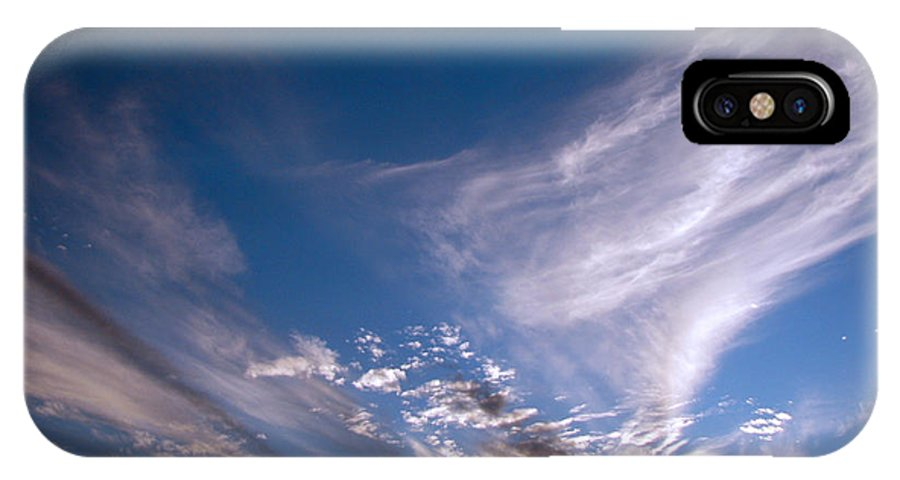 Skies IPhone X Case featuring the photograph Sky by Amanda Barcon