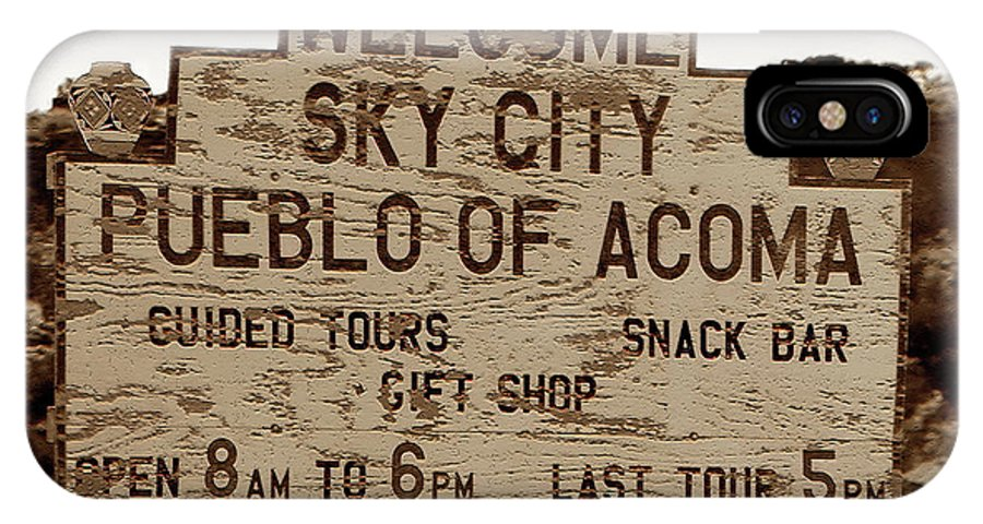 Fine Art Photography IPhone X Case featuring the photograph Sky City Sign by David Lee Thompson