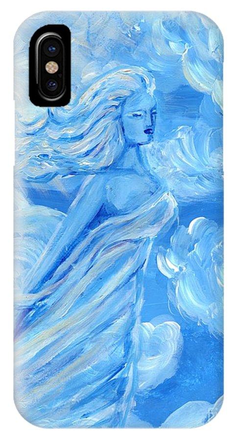 Goddess IPhone X Case featuring the painting Sky Goddess by Cassandra Geernaert