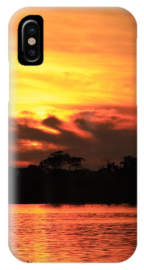 Sky IPhone X Case featuring the photograph Sky Is On Fire by Martina Fagan