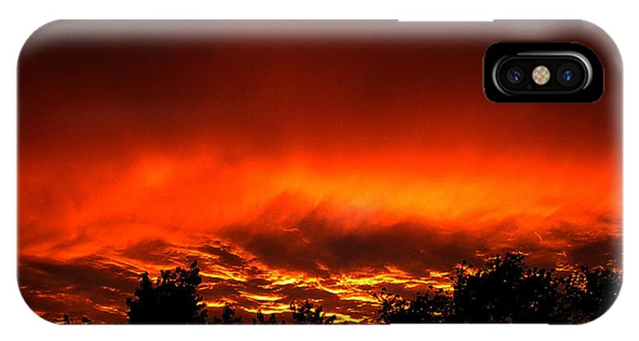 Sky IPhone X Case featuring the photograph Sky On Fire Orange Glow Sunset Over Virginia by Alexandra Cook